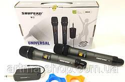 Комплект беспроводных караоке SHUPERD микрофонов профессиональный качественный звукрадио M2 2 микрофона