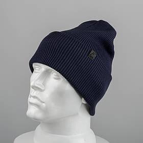 Молодежная шапка Резинка с отворотом (20102)