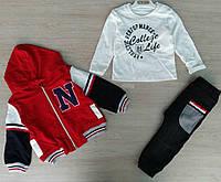 Детский костюм 1-2 года двунитка для мальчиков Турция оптом