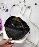 Небольшой женский бордовый мини рюкзак городской, повседневный матовая эко-кожа, фото 10