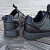Чорні кросівки чоловічі nike roshe run копія демі демисезон еко шкіряні чорні кросівки демісезон, фото 4