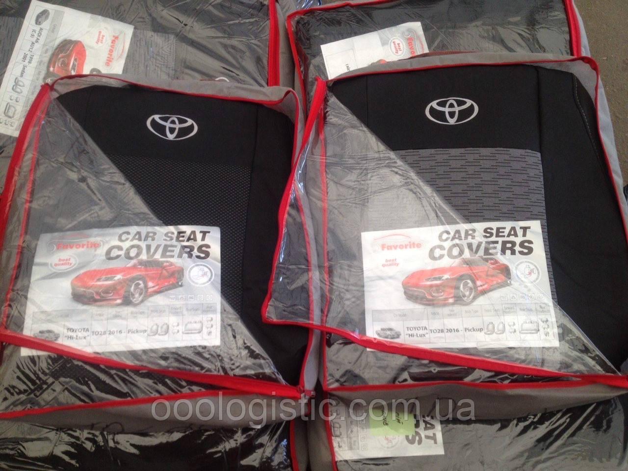 Авточехлы  на Toyota Hi-lux 2016> pickup