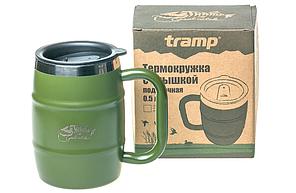 Термокружка Tramp TRC-100 500 мл з кришкою Olive, фото 3