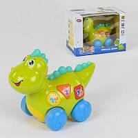 Музыкальный динозаврик Дино 7725 (18/2) ездит, подсветка, англ. озвучивание, в коробке