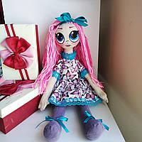 Кукла Оливия текстильная ручной работы. Высота 53 см.Волосы акриловые нити. Лицо-ручная роспись.