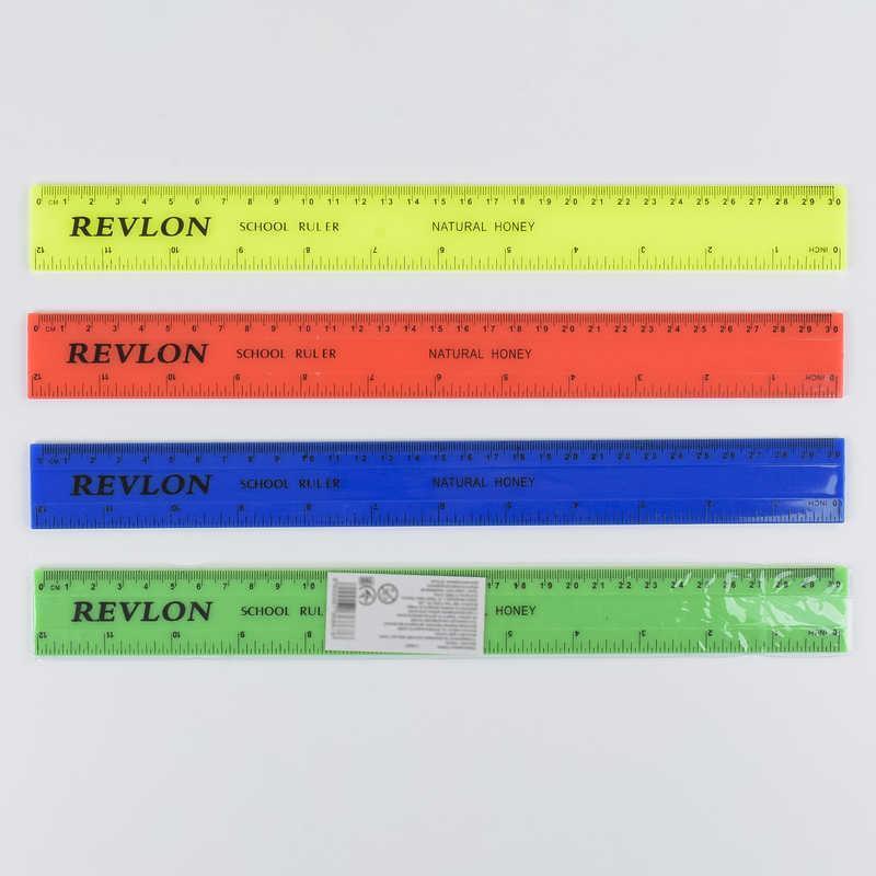 Линейка С 36867 (720) 30см, 4 цвета, 1шт в кульке