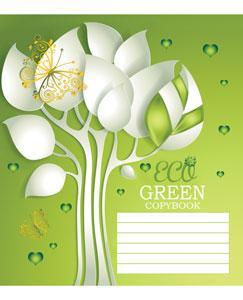 Зошит TM Green 18 аркушів в клітинку (2323к) Еко грін