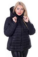 Куртка женская демисезонная больших размеров MODA 0061 4XL-9XL (56-66) Черный