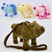 Музыкальная игрушка Свинка на д/у М 03048 (48) высота 18см, музыкальная, ходит, танцует, в кульке( ГОЛУБОЙ