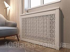 Решетки на батареи отопления, декоративные экраны (короб) R16-R60 Белый с комплектом для монтажа