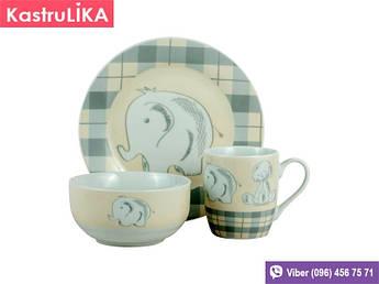 Набір дитячого посуду Limited Edition Elephants 2 3пр