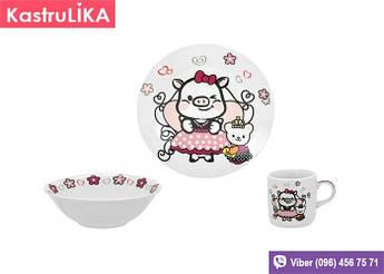 Набір дитячого посуду Limited Edition Sweety 3пр