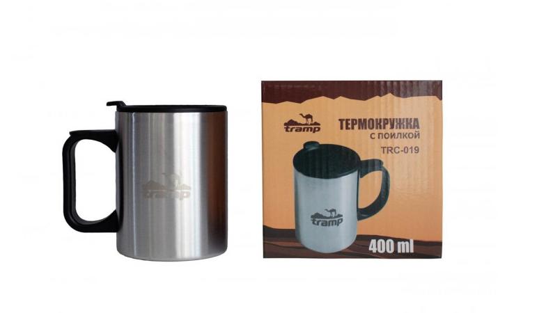 Термокружка Tramp TRC-019 400 мл с поилкой Steel