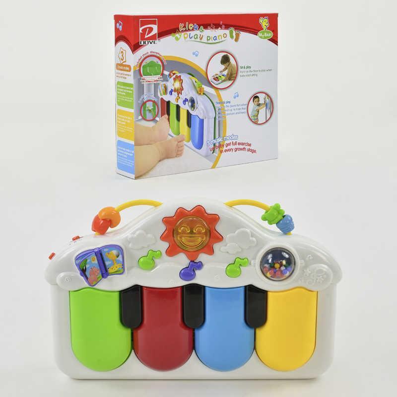 Пианино 6821 (18) музыка, свет, на батарейке, в коробке