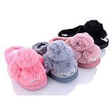 Тапочки домашні жіночі кімнатні Кролики. Теплі хутряні капці Зайчики, р. 36-37 Світло рожевий, фото 2