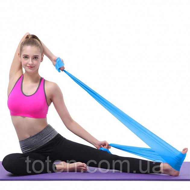 Лента эспандер  (1 штука) резинка эластичная для пилатеса, фитнеса, спорта, ног, ягодиц, рук. 1,5мx15смx0,45мм