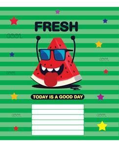 Тетрадь 12 листов в клетку (2750к) Хорошего дня!