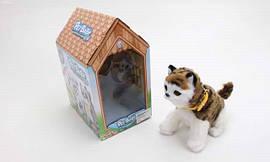 Кот в домике на батарейке