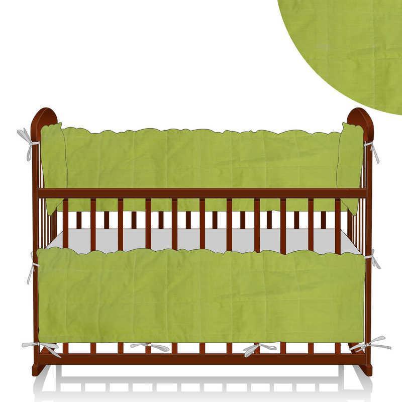 Гр Защита в кроватку МБ/40/014  - цвет салатовый ТМ Алекс