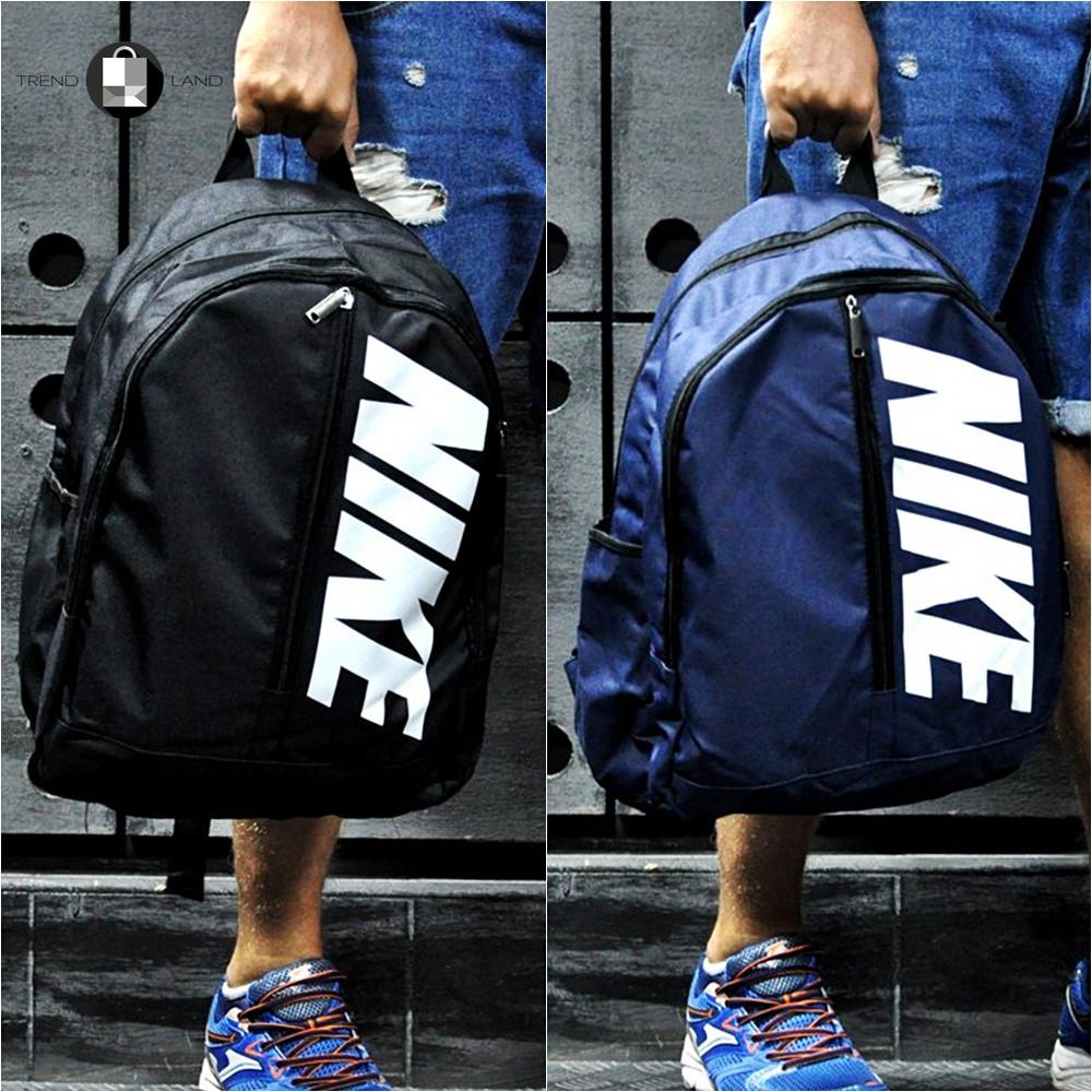 Городской спортивный рюкзак в стиле Nike синего цвета