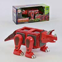 Конструктор магнітний LQ 623 (16/2) Динозавр, 18 деталей, світло, звук, в коробці