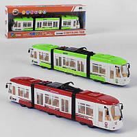 Трамвай 1598 (24) 2 цвета, свет, звук, англ. озвучивание, в коробке