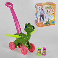 """Каталка з мильними бульбашками """"Динозавр"""" FH 880 (24) мелодії, звуки динозавра, підсвітка, в коробці"""