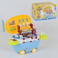 """Ігровий набір 668-46 """"Барбекю"""" (12) 40 деталей, на колесах, світло, звук, в коробці"""