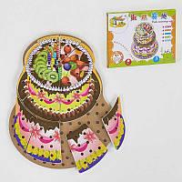 Деревянная игра Шнуровка Торт С 35944 (36) в коробке
