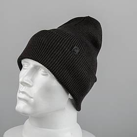 Молодежная шапка Резинка с отворотом (20102) Коричневый мелан