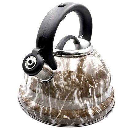Чайник из нержавеющей стали со свистком на 2,6 литра VICALINA VL-0063, фото 2