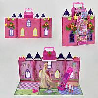 Домик с куклой 68034 (18) с аксессуарами, в коробке