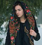 Душевный разговор 1113-18, павлопосадский платок шерстяной с шелковой бахромой, фото 7