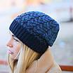 Женская вязаная шапка La Visio 164 синий, фото 2