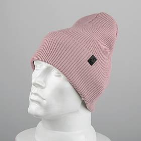 Молодежная шапка Резинка с отворотом (20102) Пдра