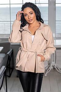 """Жіноче демісезонне пальто-куртка """"Кашемір Сорочка"""" в кольорах (80-1094)"""