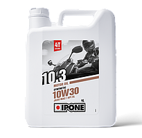Моторное масло IPONE 10.3 SAE 10W30 (4л) для мотоциклов. JASO MA-2, API SL