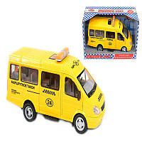 """Машина 9098 E (24/2) """"Маршрутное Такси"""" открываются двери, звук, свет фар, на батарейках, в коробке"""
