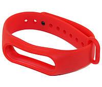 Ремешок для фитнес-браслета Xiaomi Mi Band 2, красный, браслет на сяоми ми бенд 2
