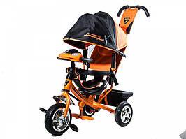 Детский Трехколесный велосипед Lamborghini 2000 OR колеса на пене, фара, ключ зажигания