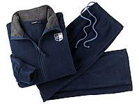 Флисовый спортивный костюм мужской (синий, серый)