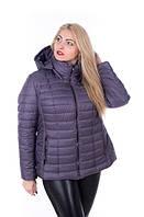 Куртка женская демисезонная больших размеров MODA 0061 4XL-9XL (56-66) Темно-серый