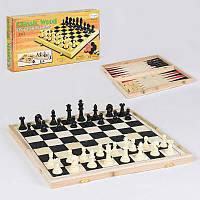 Шахматы деревянные С 36816 (24) 3 в 1, в коробке