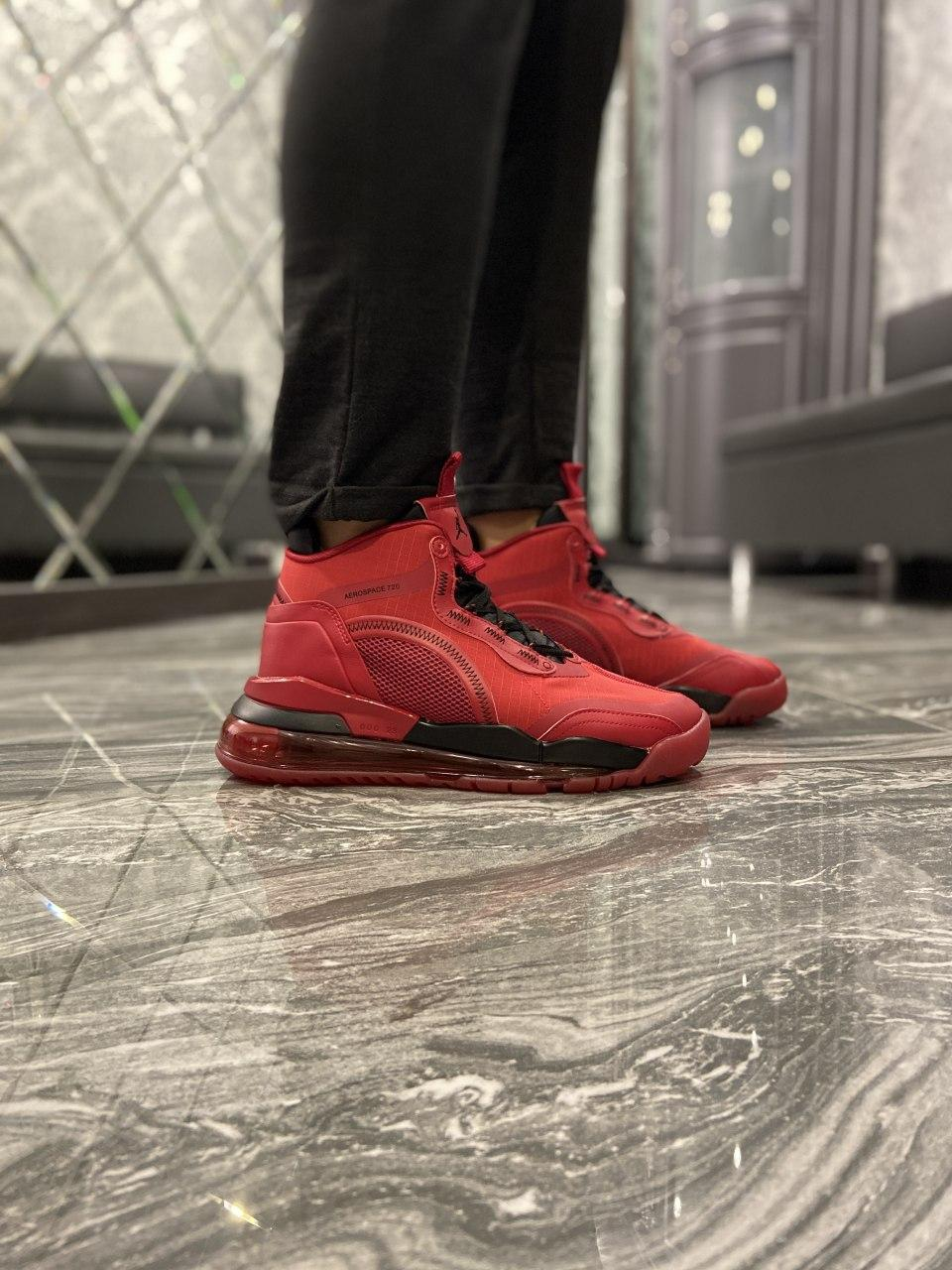 Кроссовки Nike Jordan Air Space 720 Red Black Кроссовки Найк Аир Джордан