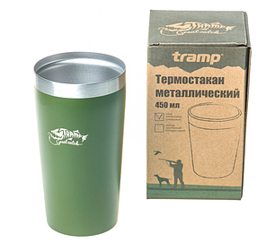 Термостакан металлический Tramp TRC-102 450мл Olive, фото 2