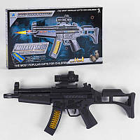 Автомат 804 В-1 (60/2) подсветка, звуки выстрелов, в коробке