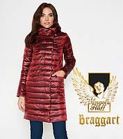 Воздуховик Braggart Angel's Fluff 28215   Куртка женская осенне-весенняя карминовая, фото 1