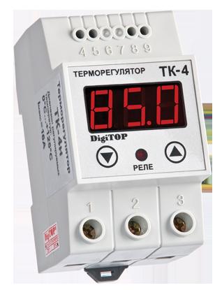 Регулятор температуры ТК-4н (одноканальный, датчик DS18B20) DIN