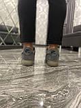 Кроссовки мужские Nike Air Force Luxury Suede Grey Кроссовки найк Найк мужские кроссовки, фото 2