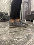 Кроссовки мужские Nike Air Force Luxury Suede Grey Кроссовки найк Найк мужские кроссовки, фото 4